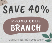 Save with promo code BRANCH